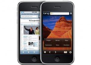 bing in iphone safari