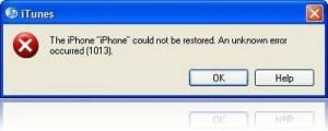 error 1013 itunes