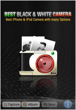 Zanura iPhone Black & White camera app