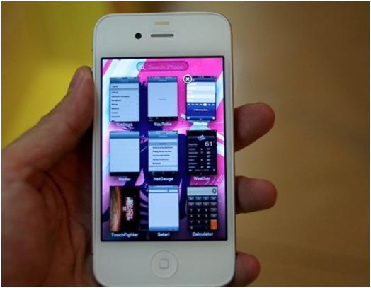 White iPhone OS 5 Multitasking